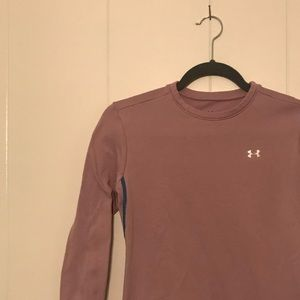 Soft pink Under Armour cold gear long sleeve top